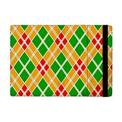 Colorful Color Pattern Diamonds Apple iPad Mini Flip Case