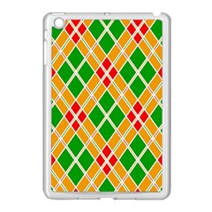 Colorful Color Pattern Diamonds Apple iPad Mini Case (White)