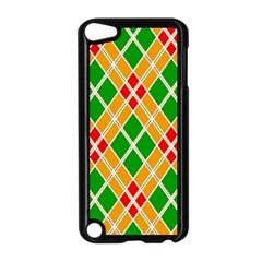 Colorful Color Pattern Diamonds Apple iPod Touch 5 Case (Black)