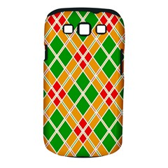 Colorful Color Pattern Diamonds Samsung Galaxy S III Classic Hardshell Case (PC+Silicone)