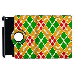 Colorful Color Pattern Diamonds Apple iPad 2 Flip 360 Case
