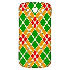 Colorful Color Pattern Diamonds Samsung Galaxy S3 S III Classic Hardshell Back Case