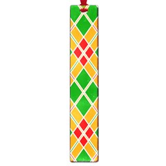 Colorful Color Pattern Diamonds Large Book Marks