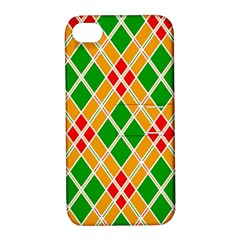 Colorful Color Pattern Diamonds Apple iPhone 4/4S Hardshell Case with Stand