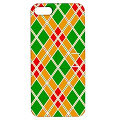 Colorful Color Pattern Diamonds Apple Iphone 5 Hardshell Case With Stand