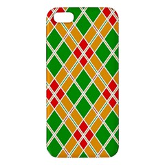 Colorful Color Pattern Diamonds Apple iPhone 5 Premium Hardshell Case