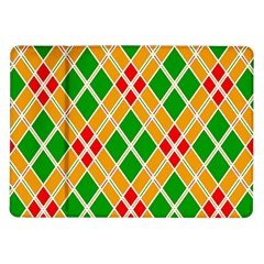 Colorful Color Pattern Diamonds Samsung Galaxy Tab 10.1  P7500 Flip Case
