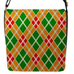 Colorful Color Pattern Diamonds Flap Messenger Bag (S)