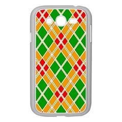 Colorful Color Pattern Diamonds Samsung Galaxy Grand DUOS I9082 Case (White)