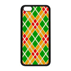 Colorful Color Pattern Diamonds Apple iPhone 5C Seamless Case (Black)