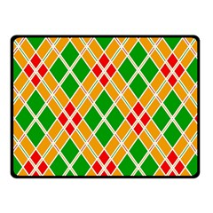 Colorful Color Pattern Diamonds Double Sided Fleece Blanket (Small)
