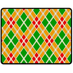 Colorful Color Pattern Diamonds Double Sided Fleece Blanket (Medium)