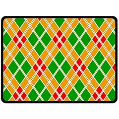 Colorful Color Pattern Diamonds Double Sided Fleece Blanket (Large)