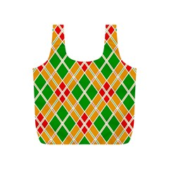 Colorful Color Pattern Diamonds Full Print Recycle Bags (s)