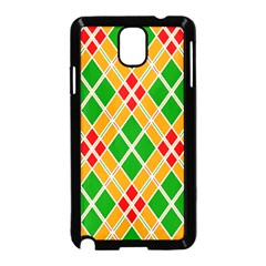 Colorful Color Pattern Diamonds Samsung Galaxy Note 3 Neo Hardshell Case (black)
