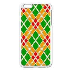 Colorful Color Pattern Diamonds Apple iPhone 6 Plus/6S Plus Enamel White Case