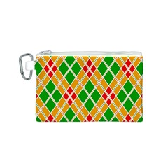 Colorful Color Pattern Diamonds Canvas Cosmetic Bag (S)
