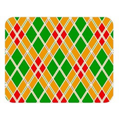 Colorful Color Pattern Diamonds Double Sided Flano Blanket (Large)