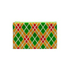 Colorful Color Pattern Diamonds Cosmetic Bag (xs)