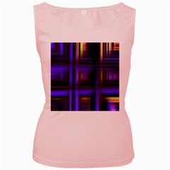 Background Texture Pattern Color Women s Pink Tank Top