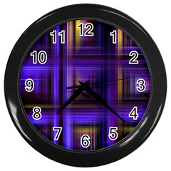 Background Texture Pattern Color Wall Clocks (Black)