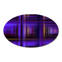 Background Texture Pattern Color Oval Magnet