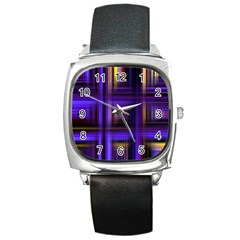 Background Texture Pattern Color Square Metal Watch