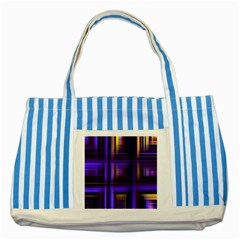 Background Texture Pattern Color Striped Blue Tote Bag