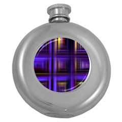 Background Texture Pattern Color Round Hip Flask (5 oz)