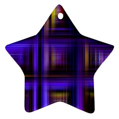 Background Texture Pattern Color Star Ornament (two Sides)