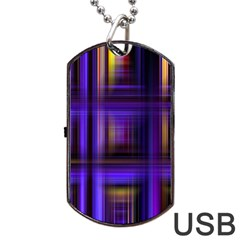 Background Texture Pattern Color Dog Tag USB Flash (One Side)