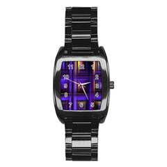 Background Texture Pattern Color Stainless Steel Barrel Watch