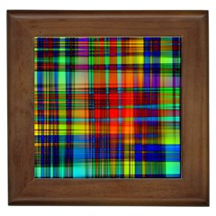 Abstract Color Background Form Framed Tiles