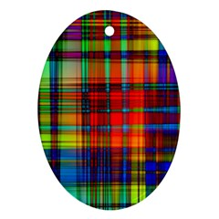 Abstract Color Background Form Ornament (oval)