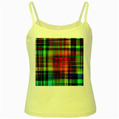 Abstract Color Background Form Yellow Spaghetti Tank