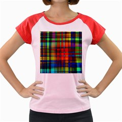 Abstract Color Background Form Women s Cap Sleeve T Shirt
