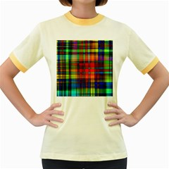 Abstract Color Background Form Women s Fitted Ringer T-Shirts