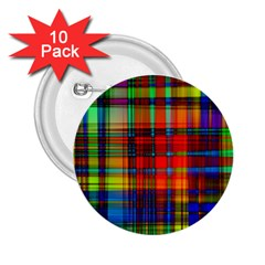 Abstract Color Background Form 2.25  Buttons (10 pack)