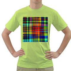 Abstract Color Background Form Green T-Shirt