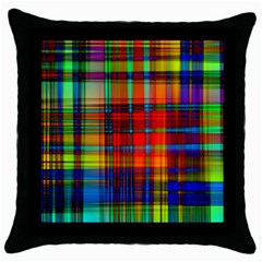 Abstract Color Background Form Throw Pillow Case (black)