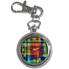 Abstract Color Background Form Key Chain Watches