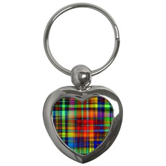 Abstract Color Background Form Key Chains (heart)
