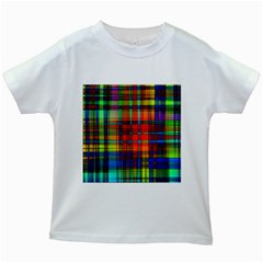 Abstract Color Background Form Kids White T-Shirts