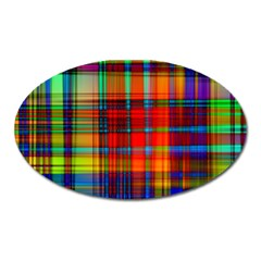 Abstract Color Background Form Oval Magnet