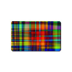 Abstract Color Background Form Magnet (Name Card)