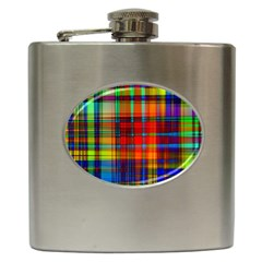 Abstract Color Background Form Hip Flask (6 oz)