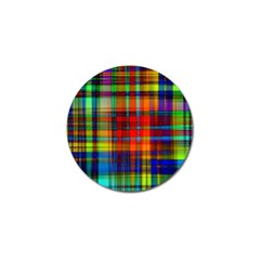 Abstract Color Background Form Golf Ball Marker