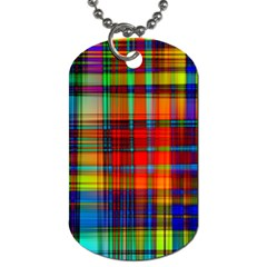 Abstract Color Background Form Dog Tag (Two Sides)