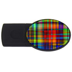 Abstract Color Background Form USB Flash Drive Oval (2 GB)