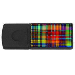 Abstract Color Background Form USB Flash Drive Rectangular (2 GB)